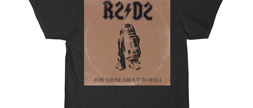 R2D2  Ac Dc Star Wars For Those About To Roll Short Sleeve Tee
