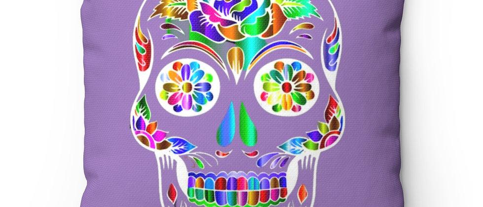 Beautiful Sugar Skull on violet Spun Polyester Square Pillow gift