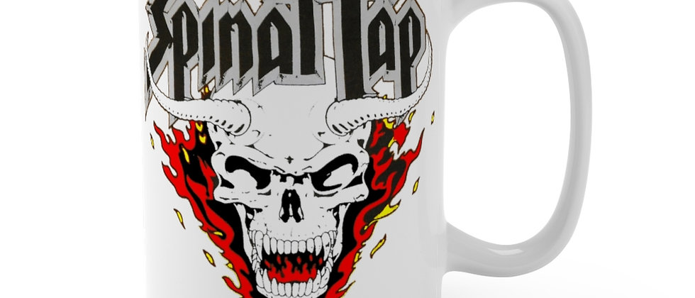 Spinal Tap Skull n flames Mug 15oz