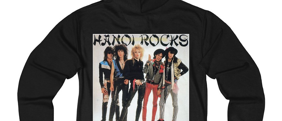 Hanoi Rocks Self Destruction Blues Unisex French Terry Zip Hoodie