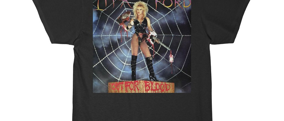 Lita Ford Out For Blood original cover Men's Short Sleeve T Shirt