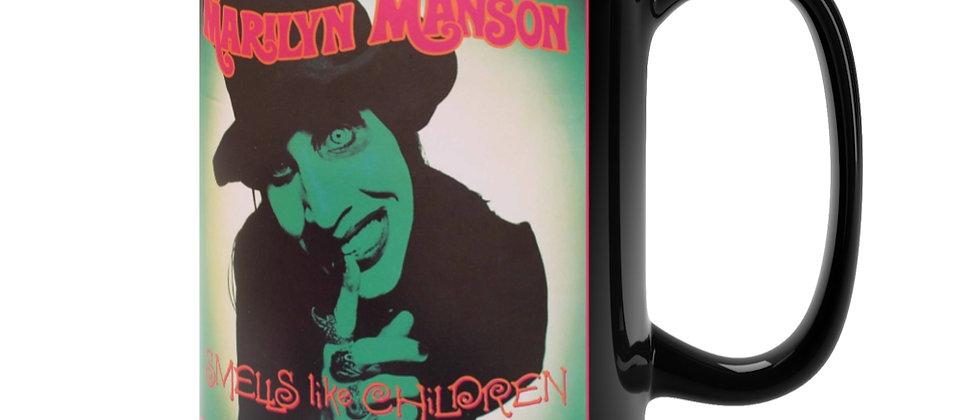Marilyn Manson Smells like Children cover Black Mug 15oz
