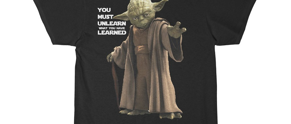 Yoda You Must Unlearn What You Have Learned STAR WARS Short Sleeve Tee
