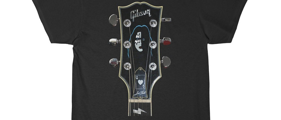 KISS Ace Frehley Gibson Les Paul Headstock Guitar Short Sleeve Tee T Shirt