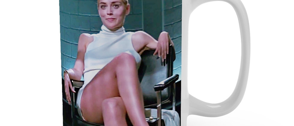 Basic Instinct sexy Sharon Stone Mug 15oz