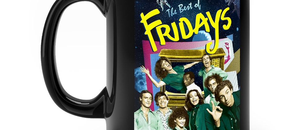 FRIDAYS Television Show From the 80's Black mug 11oz