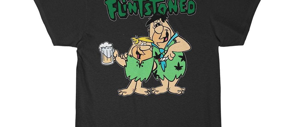 Flinstoned Fred and Barney Party pot marijuana Short Sleeve Tee