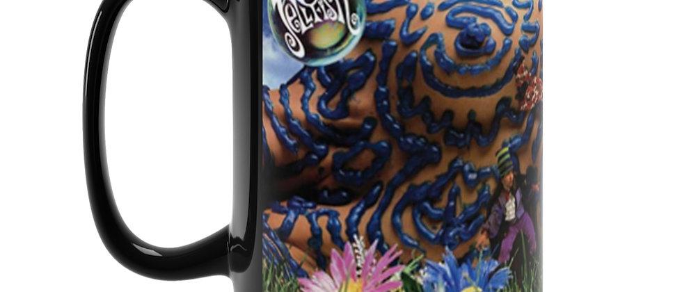 Jellyfish Bellybutton Black Mug 15oz