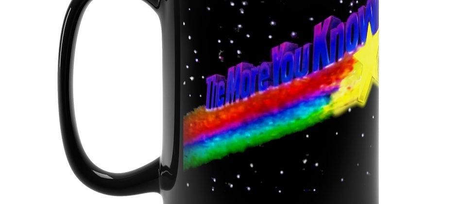 The More You Know retro 80's NBC clip Black Mug 15oz