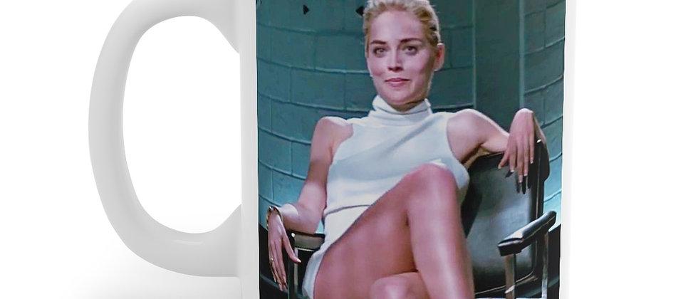 Basic Instinct Sharon Stone Mug 11oz
