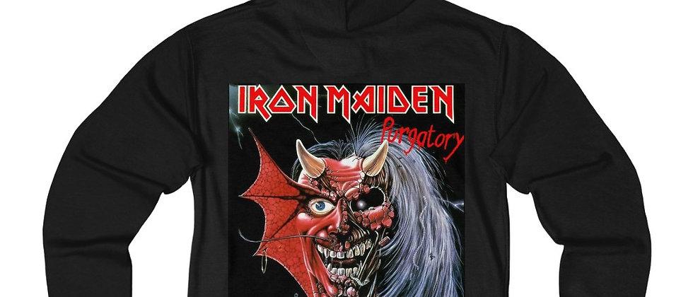 Iron Maiden Purgatory Blues Unisex French Terry Zip Hoodie