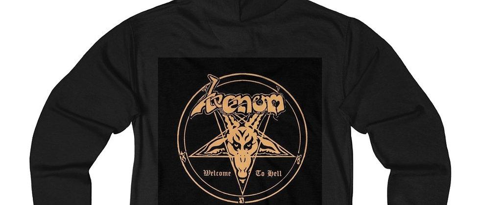 Venom Black Metal  Blues Unisex French Terry Zip Hoodie