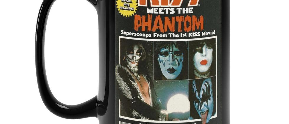 KISS Meets the Phantom magazine  70s retro Black Mug 15oz