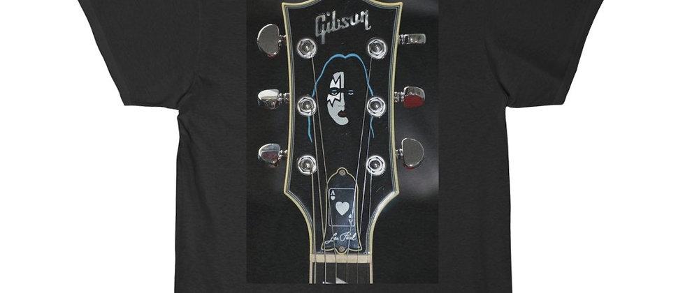 KISS Ace Frehley Gibson Les Paul Headstock Guitar Short Sleeve Tee T Shirt