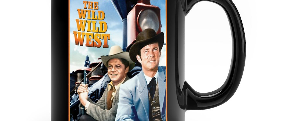 The Wild Wild West tv classic Black mug 11oz