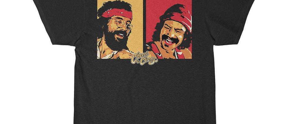 Cheech and Chong Faces pot marijuana Short Sleeve Tee