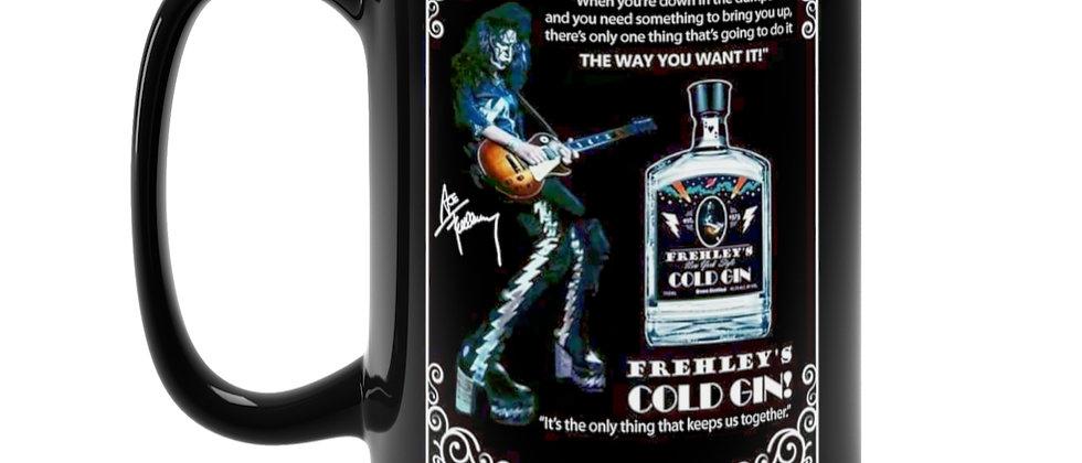 Ace Frehley Cold Gin mock advertisement  Black Mug 15oz