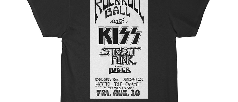 KISS Concert Advertisment For one of the first ever shows Men's Short Sleeve Tee