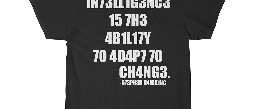 Intelligence is the ability to change  Men's Short Sleeve Tee