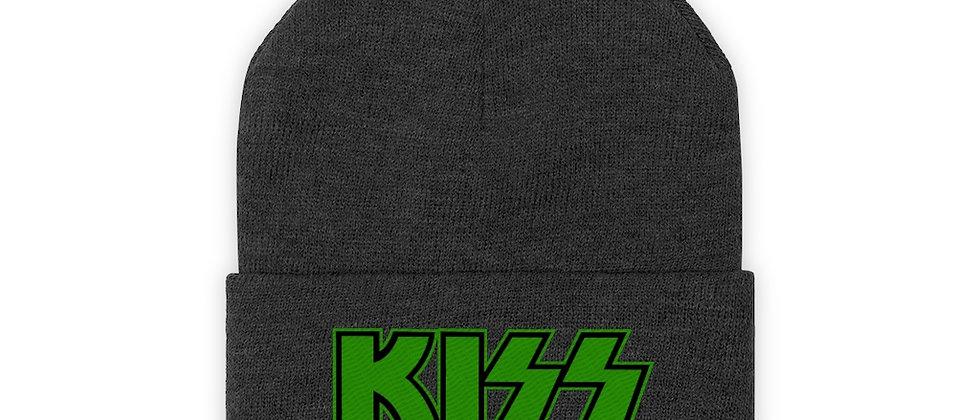 KISS Logo green Knit Beanie