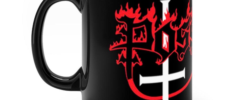 POSESSED cross logo   Black mug 11oz