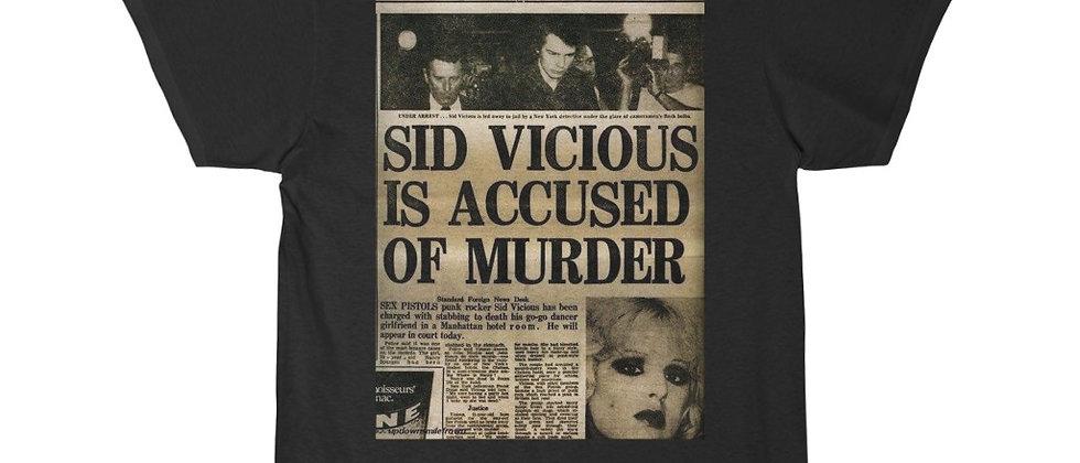 SID VICIOUS Accused of Murder Short Sleeve Tee