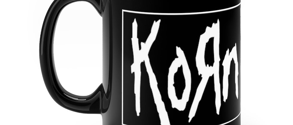 KORN logo   Black mug 11oz