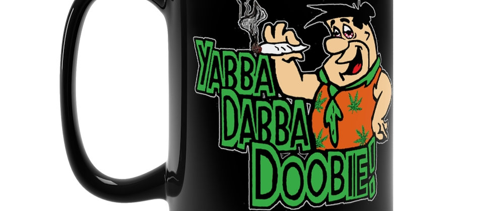 Flintstones Fred sez Yabba Dabba Doobie  Black Mug 15oz