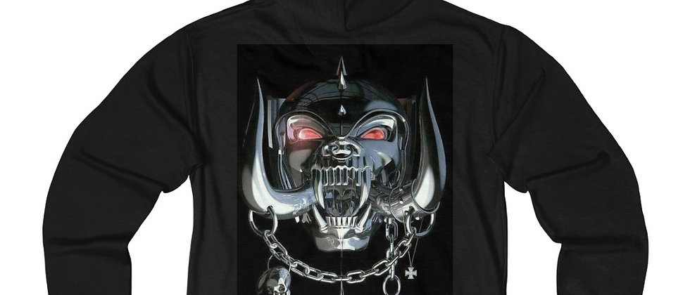 MOTORHEAD the mask  Blues Unisex French Terry Zip Hoodie