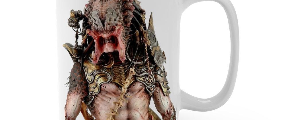 Predator Alien Warrior growl  Mug 15oz