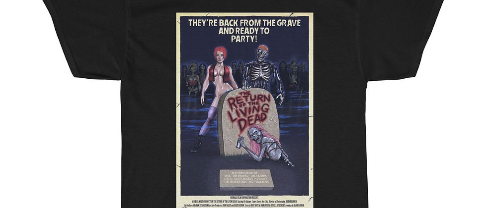 Return Of The living Dead Poster Unisex Heavy Cotton Tee
