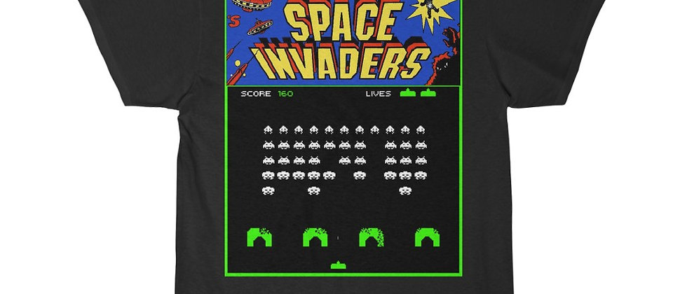 Space Invaders Video Game Screen Men's Short Sleeve Tee