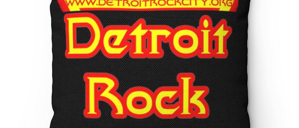 Detroit Rock City  logo Spun Polyester Square Pillow