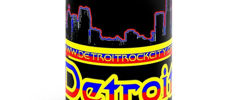 Detroit Rock City.org  type 2 Black mug 11oz