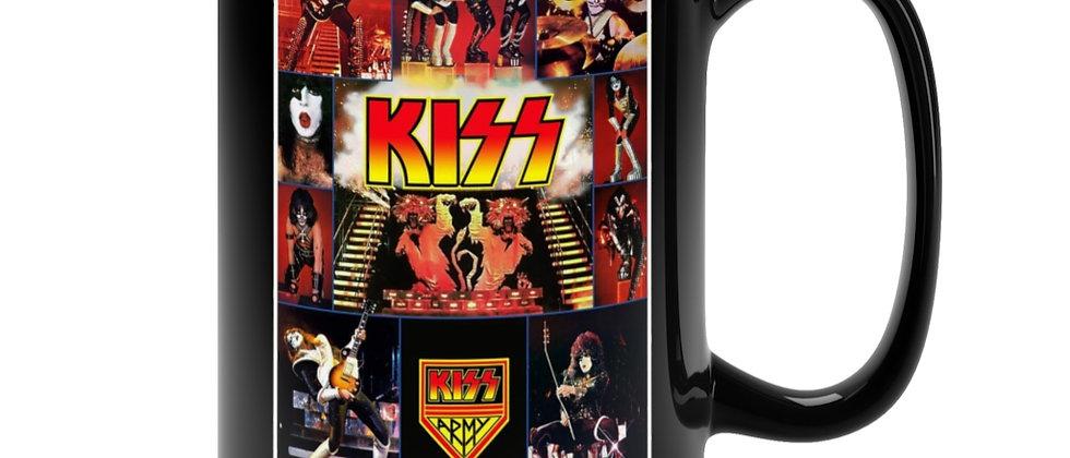 KISS vintage Poster Black Mug 15oz