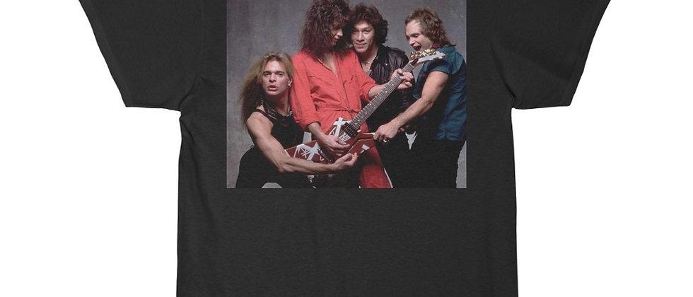 Van Halen Back Cover of women and Children First in color Short Sleeve Tee