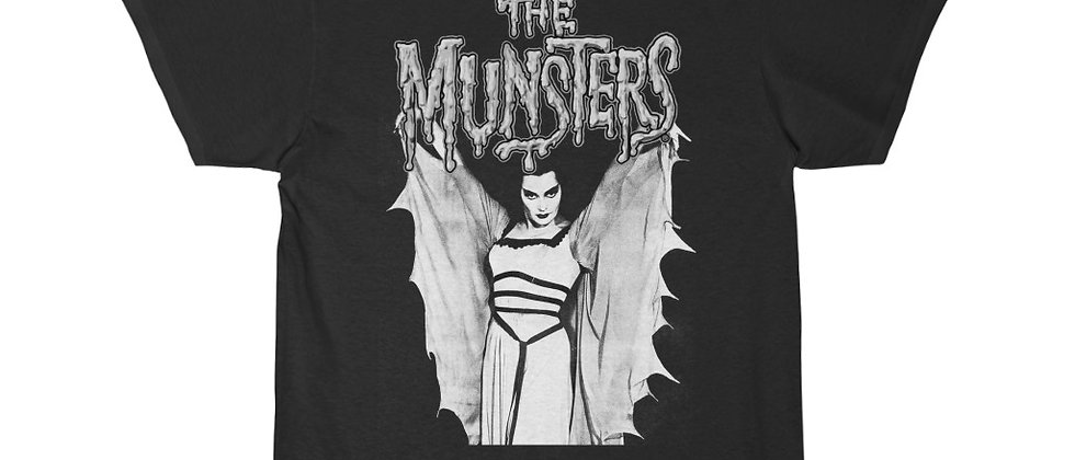 The Munsters logo and Lilly Munster  Short Sleeve Tee