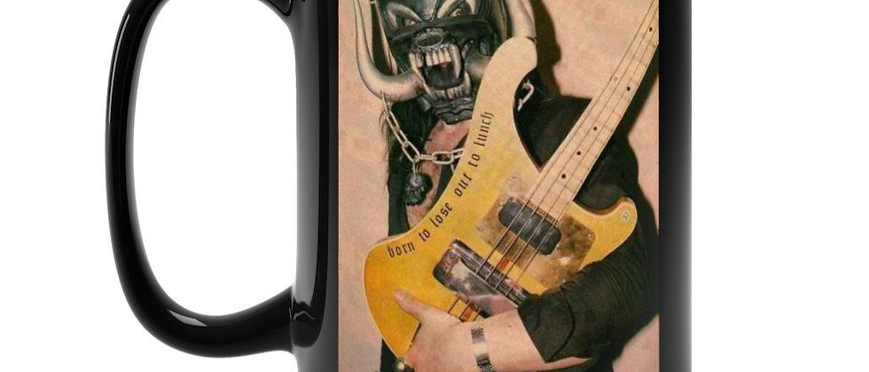 Motorhead Lemmy and Bass Black Mug 15oz