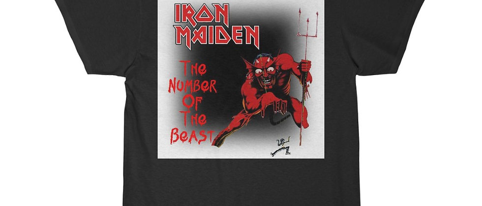 IRON MAIDEN The Number Of The Beast Show Flyer Sleeve Tee