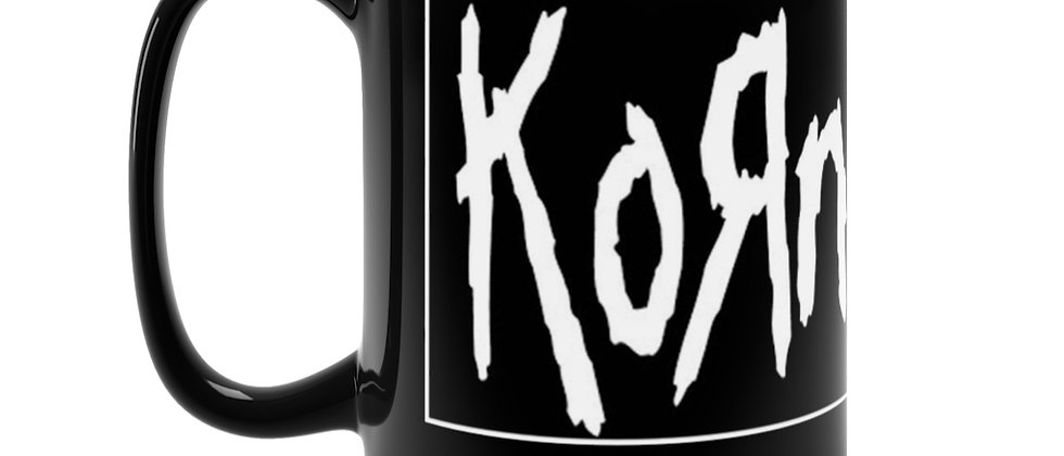 KORN logo   Black Mug 15oz