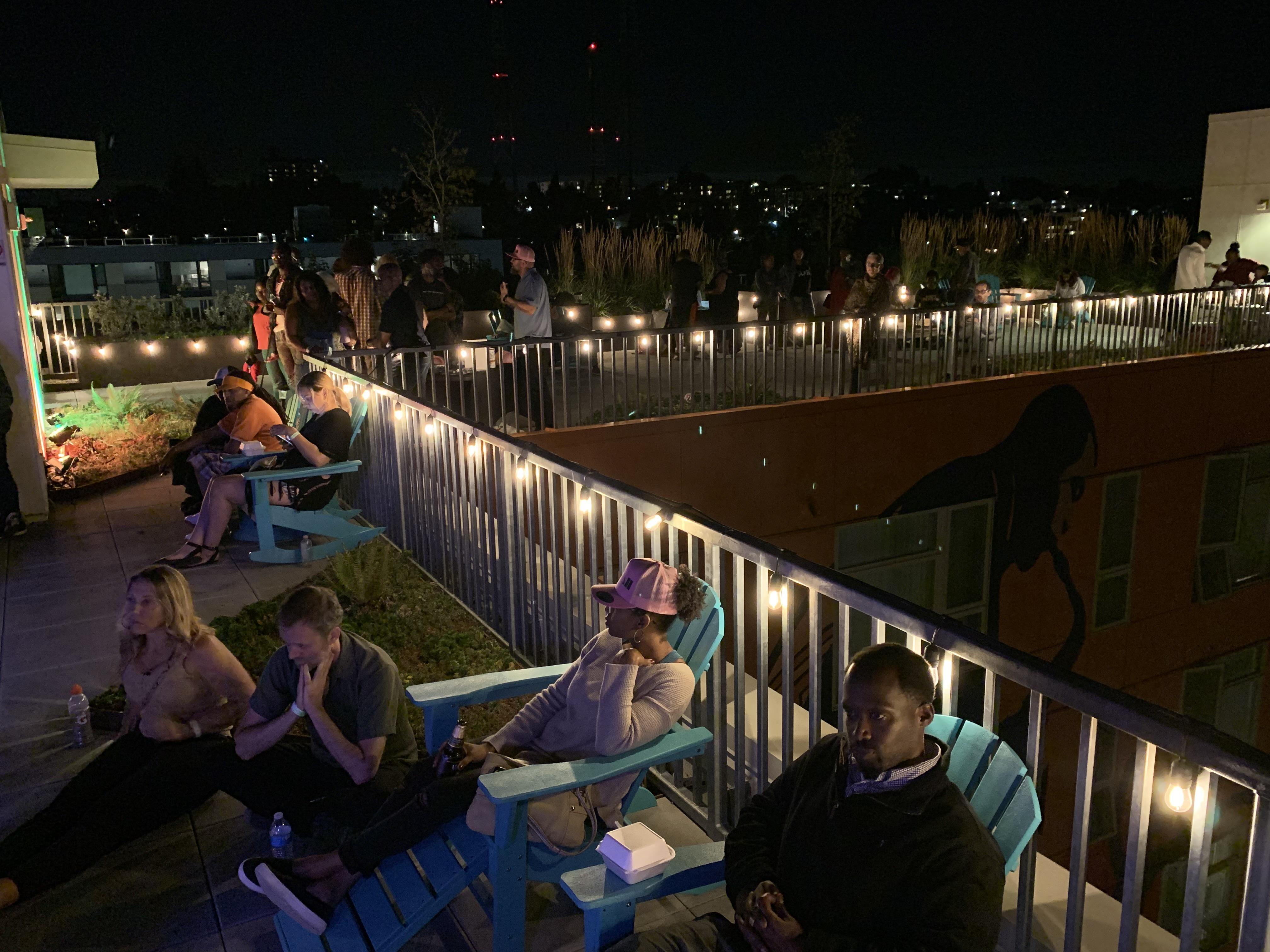 Rooftop scene