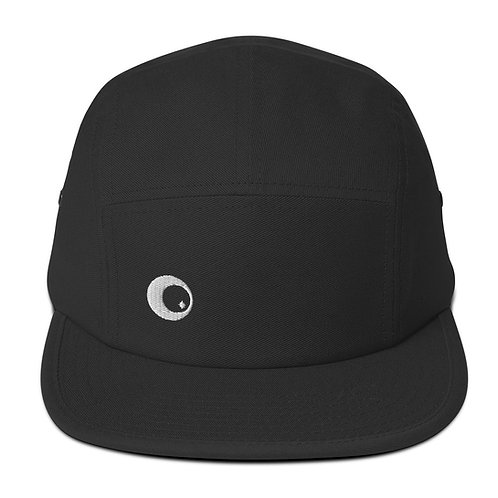 Five Panel Cap with White Logo