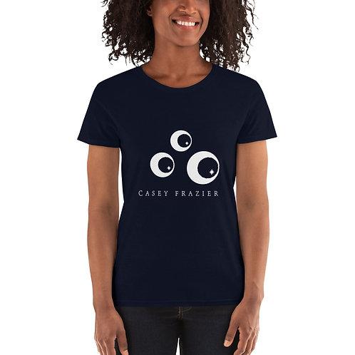 Women's T-Shirt with White Trio Logo