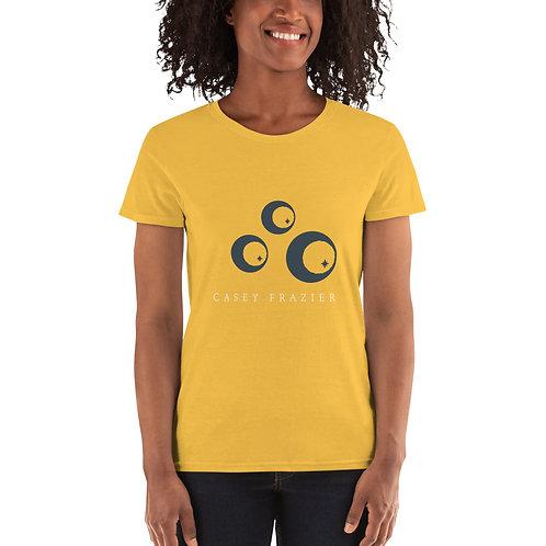 Women's T-Shirt with Blue Trio Logo