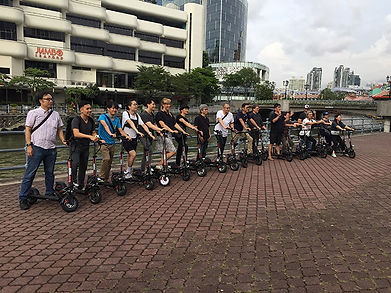 Escooter team building by City Scoot