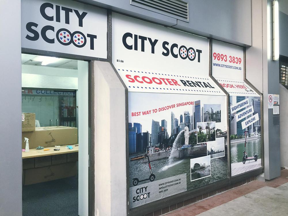 City Scoot shop front photo