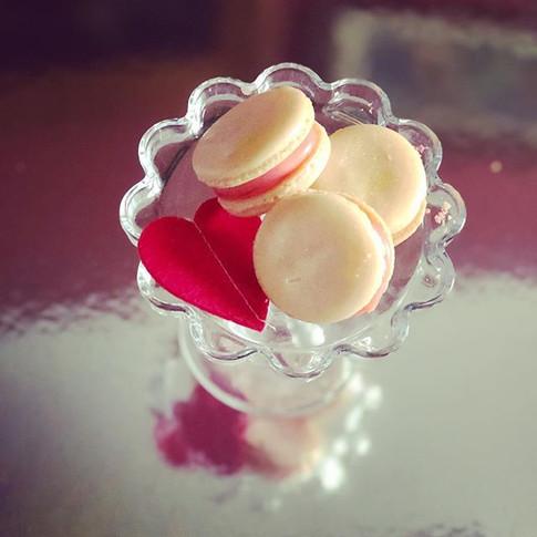 Strawberries and cream macarons.