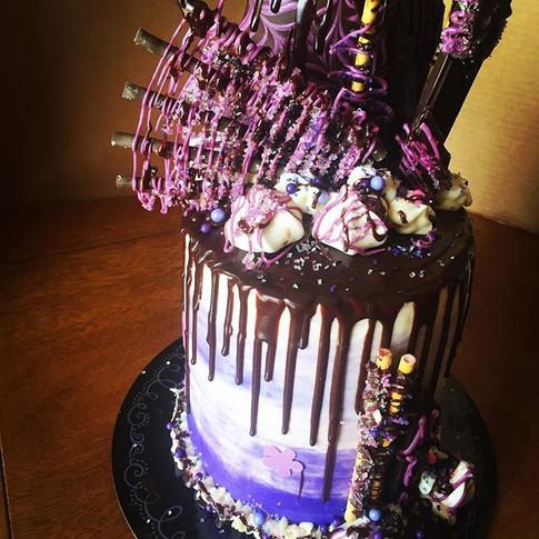 Purple Velvet Disco Cake