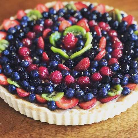 Fresh fruit tart.