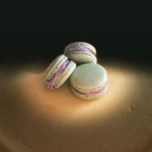 Pistachio & Lavender Macaron